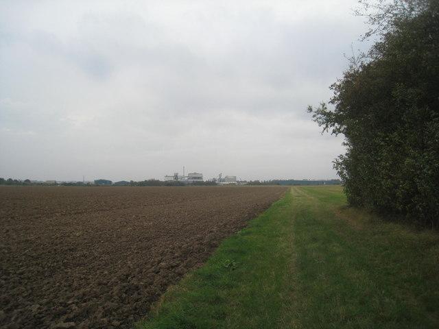 Footpath at Flixborough Grange