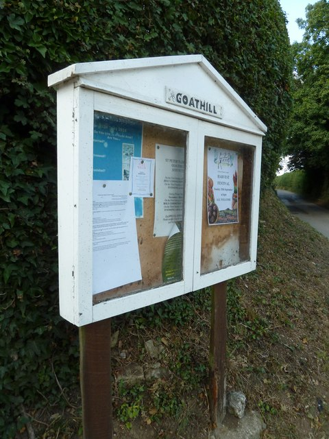 Saint Peter, Goathill: noticeboard