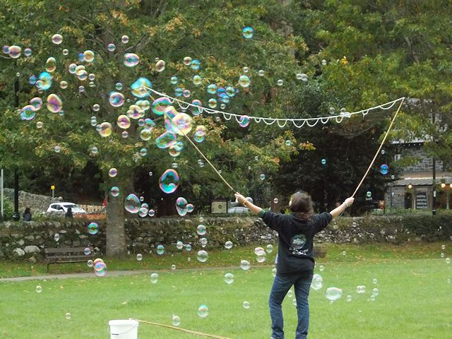 Bubbles on the green