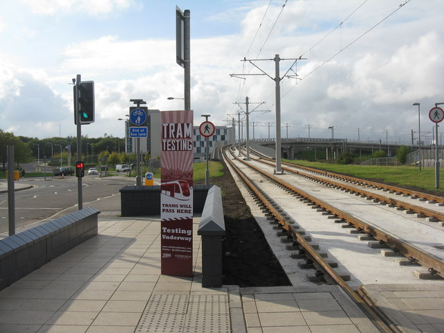 Tramway crossing railway