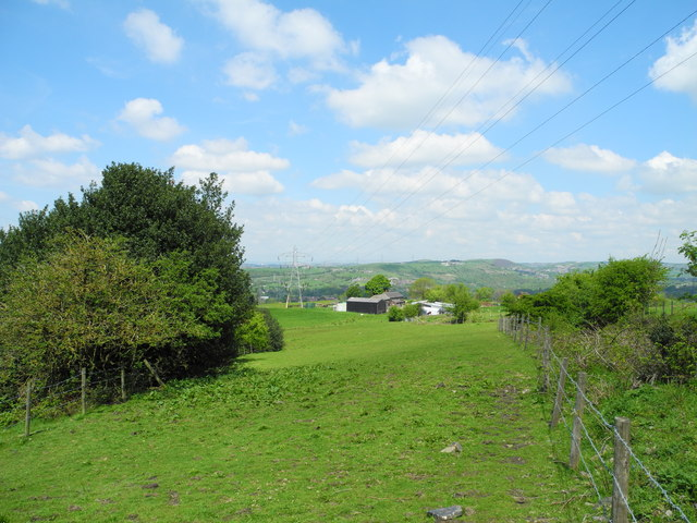 View northwest towards Flaxfield