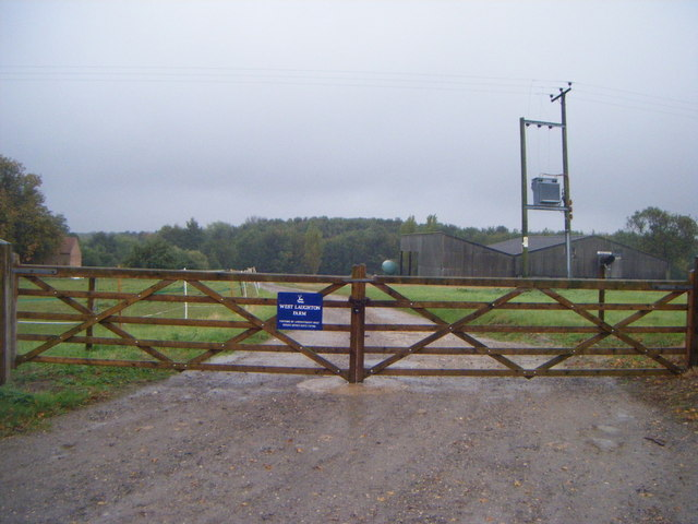 Gated track to West Laughton Farm