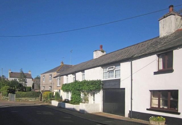 Houses on North Road, Landrake