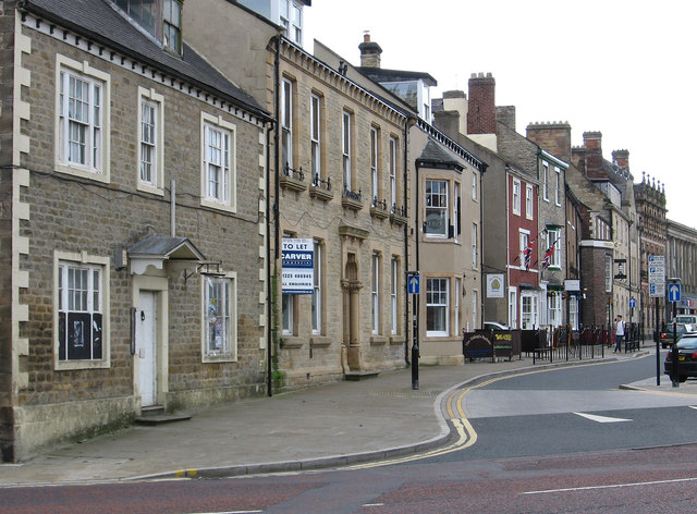 Bishop Auckland - south side of Market Place