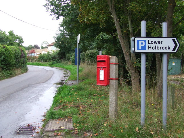 Postbox And Car Park Sign