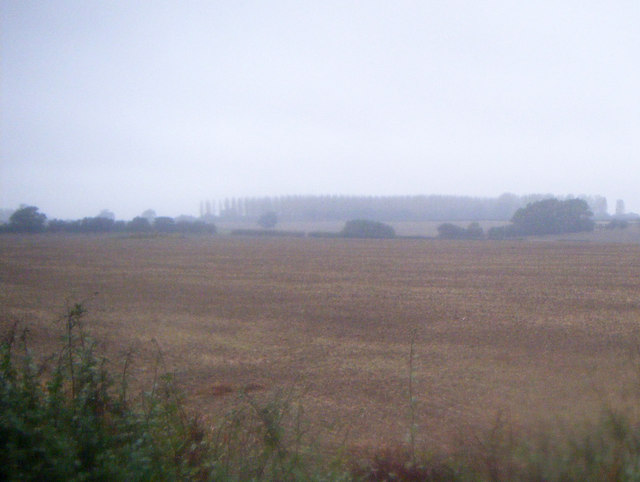 Farmland west of the A15