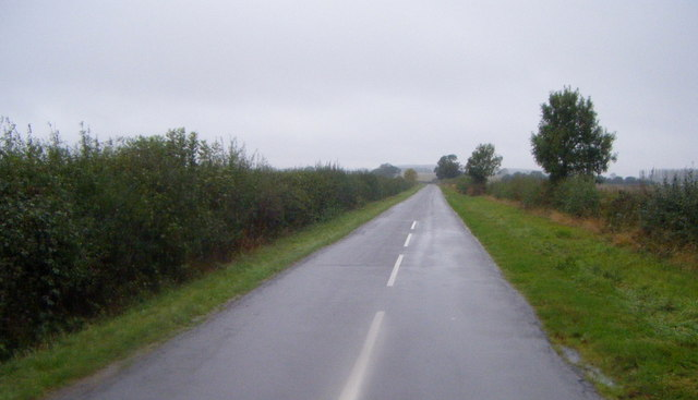 Lane heading west from the A15