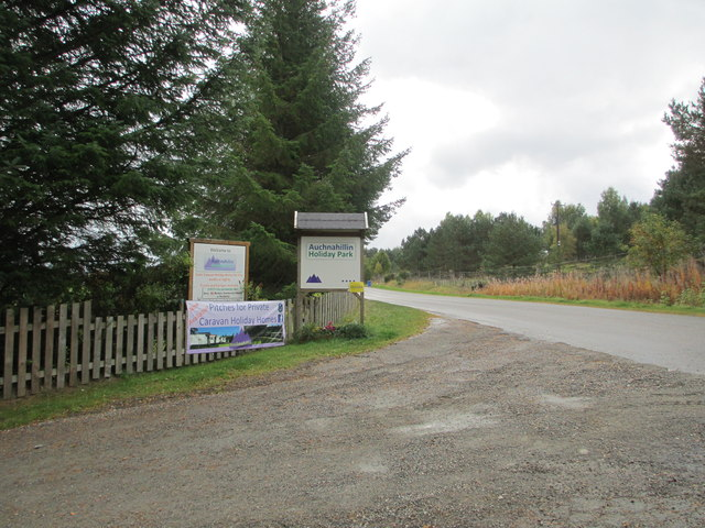 Entrance to Auchnahillin Holiday Park