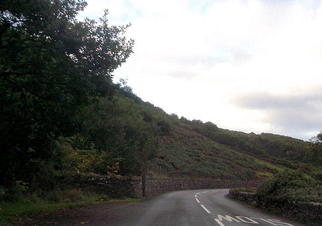 Bend near Felinrhyd Fawr on A496