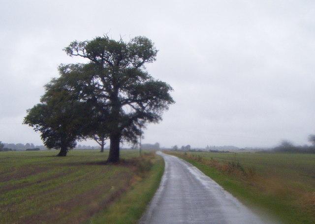 Minor road heading west