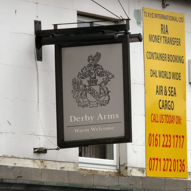 Sign of Derby Arms