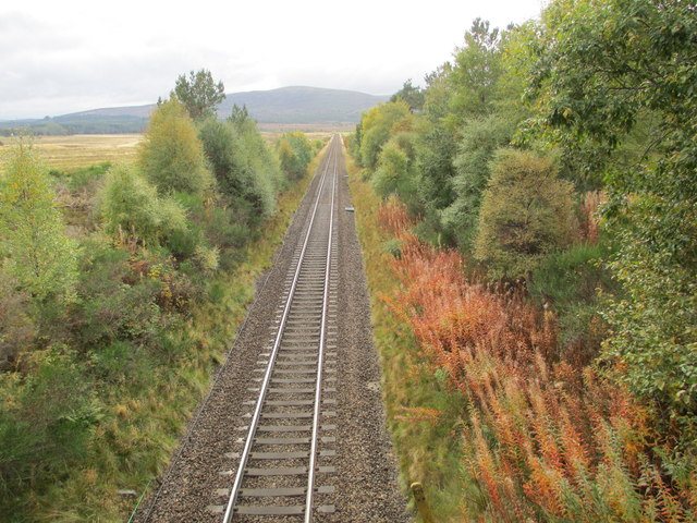 Highland mainline at Moy Moss
