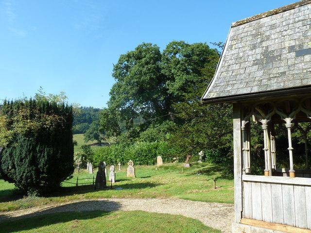 St. Andrew, Monkton Wyld: churchyard (e)