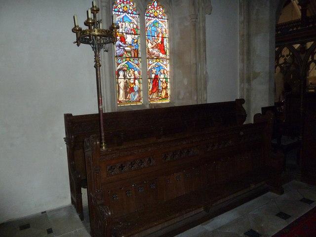 St. Andrew, Monkton Wyld: choir stalls