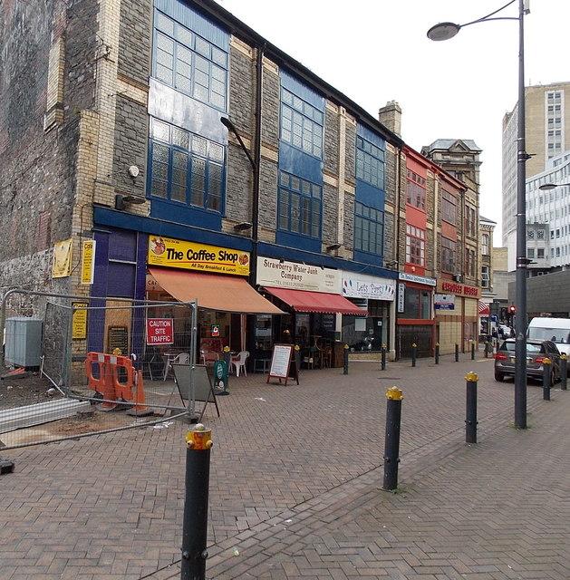 Upper Dock Street shops, Newport