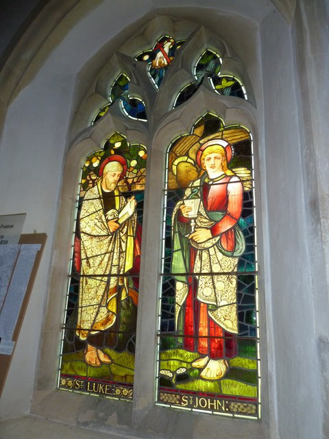 St. Andrew, Monkton Wyld: stained glass window (v)