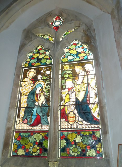 St. Andrew, Monkton Wyld: stained glass window (x)