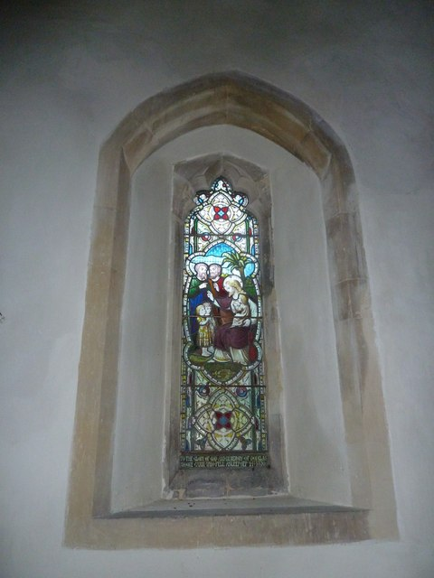 St. Andrew, Monkton Wyld: stained glass window (xiii)