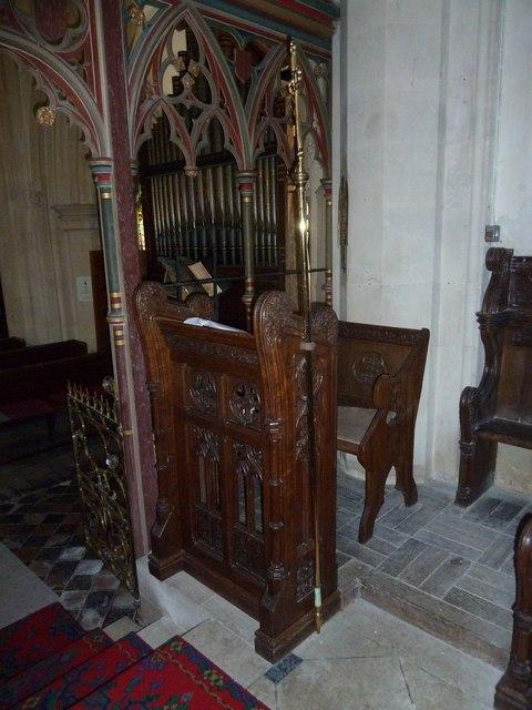 St. Andrew, Monkton Wyld: prayer desk