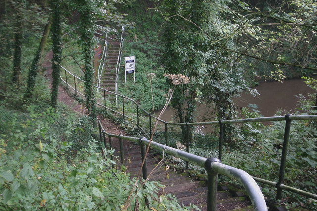 Steps leading to east portal of Shortwood Tunnel