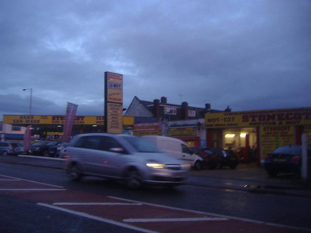 Stonecot Service Centre on Sutton Common Road