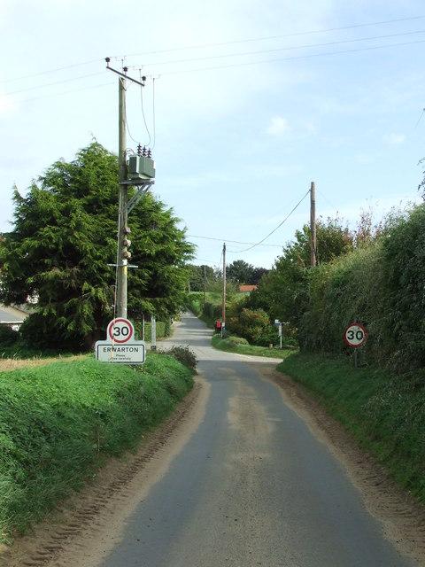 Entering Erwarton