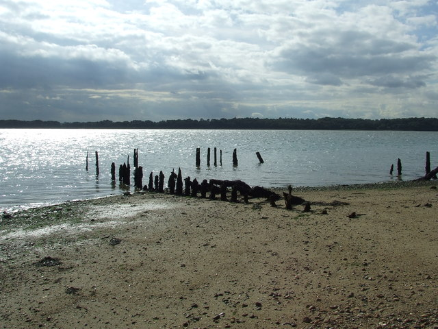 Remains of an old jetty