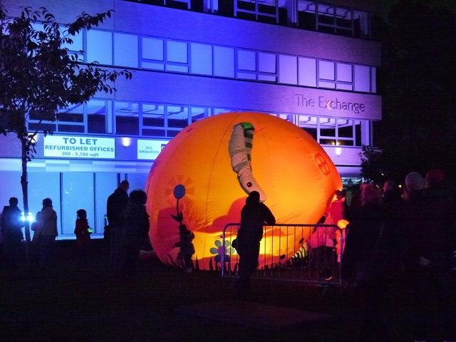 Pumpkin Storytelling Pod, Bury Library Gardens on Light Night
