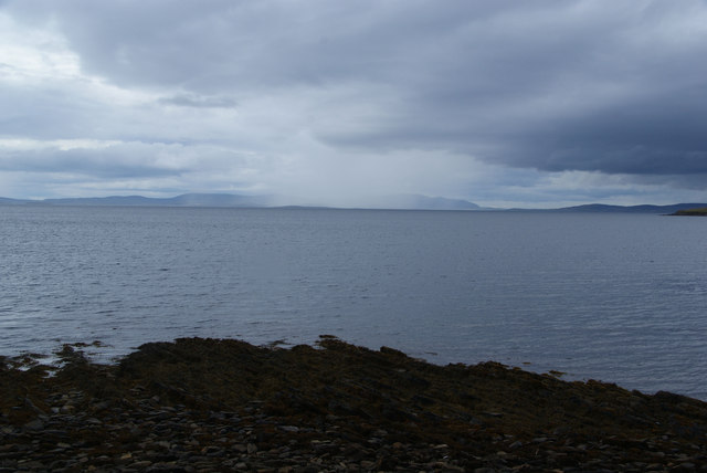 Rain shower over Scapa Flow