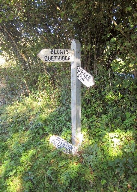 Signpost, Wotton Cross