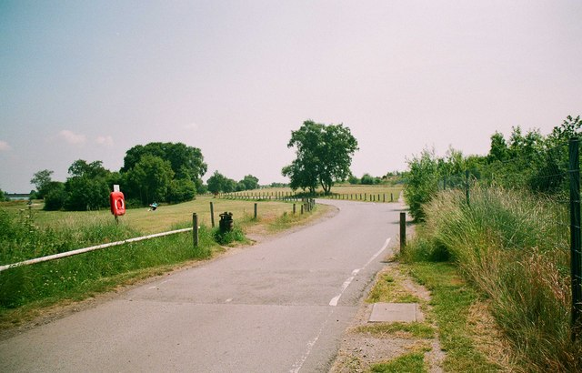 Exit road from Chasewater Country Park, Brownhills, Staffs