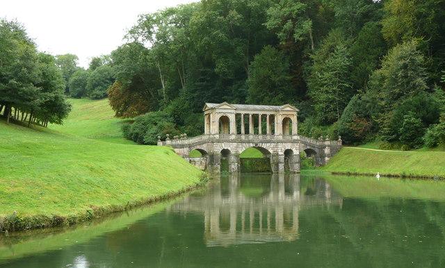 The Palladian Bridge in its setting, Prior Park