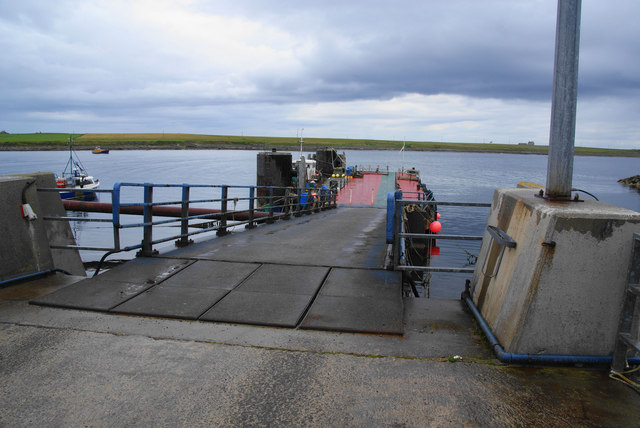 Ferry jetty at Burwick