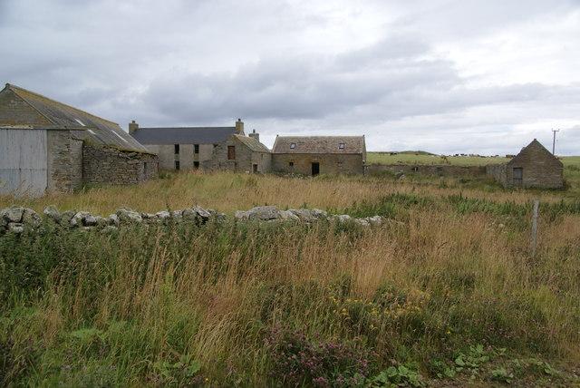 Derelict buildings at Burwick