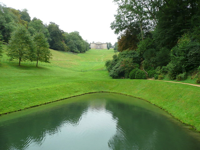 View of the mansion from the Palladian Bridge, Prior Park