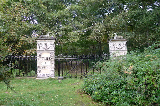 Gates at South Lodge, Clumber Park