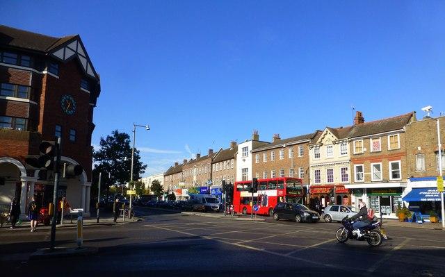Heath Road from the junction with Cross Deep, Twickenham