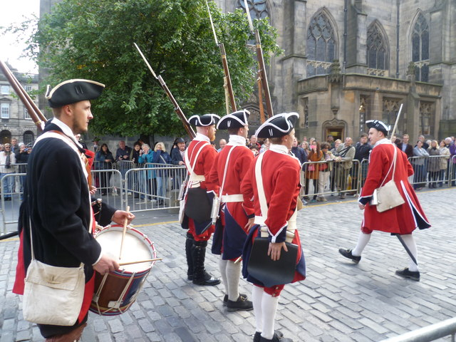 Town Guard on parade