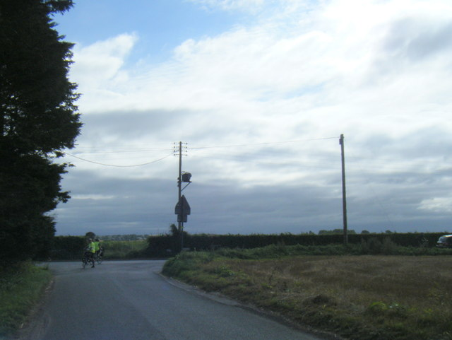 Curlew Lane nears Tarlscough Lane