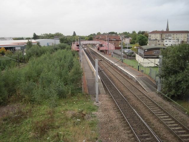 Whifflet railway station, North Lanarkshire