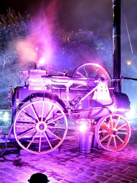 """Steam Engine """"Doris"""", Bury Light Night"""