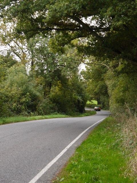 Brockhamhurst Road, passing High Ridge Wood