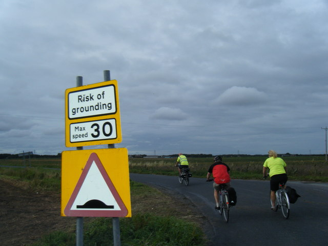 Wyke Lane corner with cyclists