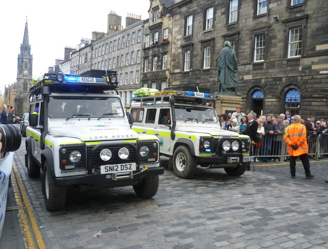 Rescue vehicles in the High Street