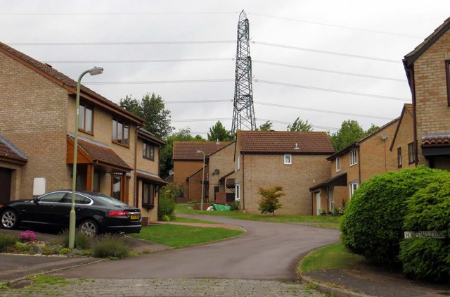 Modern houses in Homestall Close