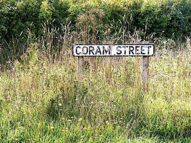 Coram Street sign