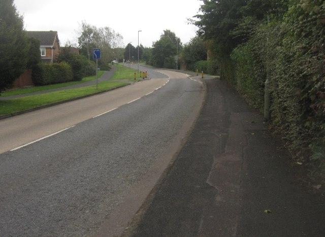 View along Woodbury Road
