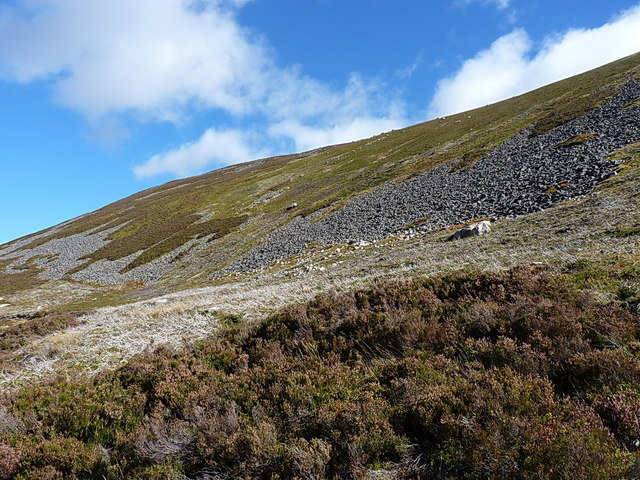 Steeply up towards Meall Glasail Mòr