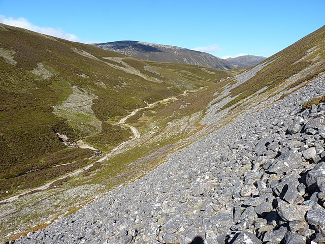 Boulder scree above the Allt Tarsuinn
