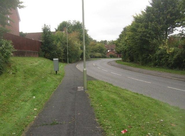 View along Long Cross Lane